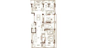滟紫台 4室3厅2卫 265平方米 精装