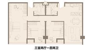 百家湖艺术公馆 3室2厅2卫 170平方米 精装