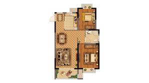 苏宁威尼斯水城 2室2厅1卫 89平方米 精装