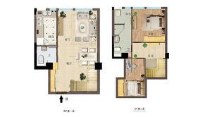 东方红郡天赋广场 2室2厅2卫 45.5平方米 毛坯
