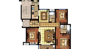 明发香山郡 3室2厅2卫 127.51平方米 毛坯