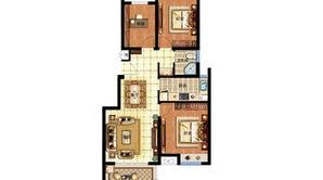 明发香山郡 3室2厅1卫 87.73平方米 毛坯