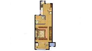 天乐湖 1室1厅1卫 49平方米 精装