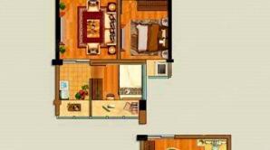 明发财富中心 2室2厅1卫 69平方米 毛坯