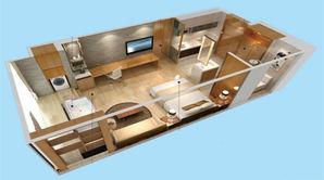 汤城东郡广场 1室1厅1卫 40平方米 精装