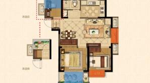 金浦紫御东方 3室2厅1卫 78平方米 精装
