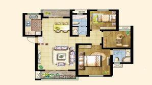 景湖名都 3室2厅2卫 108.5平方米 毛坯
