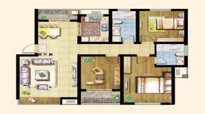景湖名都 3室2厅2卫 118.7平方米 毛坯