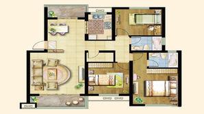 景湖名都 3室2厅2卫 120平方米 毛坯