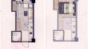 中南锦苑BOX公寓 1室1厅1卫 53平方米 精装