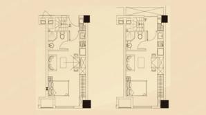中南乐尚MALL公寓 2室2厅2卫 47.1平方米 毛坯