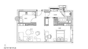 南京金奥缤润汇 1室1厅1卫 97平方米 精装