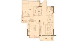 金色里程 2室2厅1卫 79平方米 毛坯