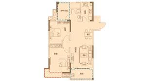 金色里程 2室2厅1卫 99平方米 毛坯