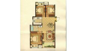 明发珠江国际 3室2厅1卫 104平方米 毛坯