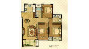 明发珠江国际 3室2厅2卫 117平方米 毛坯