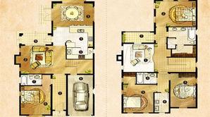 卧龙湖风情小镇 4室2厅3卫 237平方米 毛坯