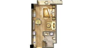 招商兰溪谷 1室1厅1卫 42平方米 精装