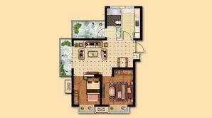 电建海赋尚城 3室2厅1卫 78平方米 毛坯