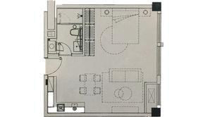 银城一方山 1室1厅1卫 54平方米 精装