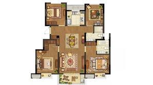 银城君颐东方 4室2厅2卫 130平方米 精装