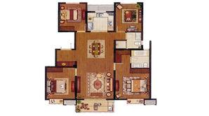 银城君颐东方 4室2厅2卫 140平方米 精装