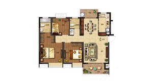 电建洺悦府 3室2厅2卫 105平方米 毛坯