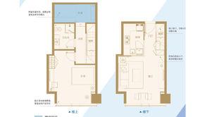 南京金奥缤润汇 2室1厅1卫 49.27平方米 毛坯