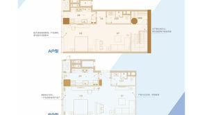 南京金奥缤润汇 2室2厅1卫 119.04平方米 毛坯