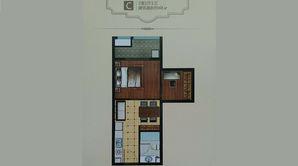 城南幸福里 2室1厅1卫 48平方米 精装
