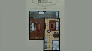 城南幸福里 1室2厅1卫 71平方米 精装