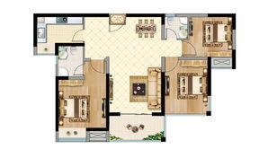 恒大悦澜湾 3室2厅2卫 96平方米 毛坯