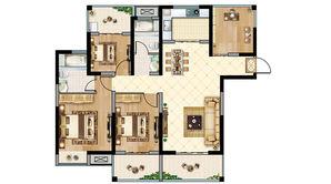 恒大悦澜湾 4室2厅2卫 128平方米 毛坯