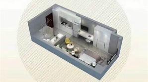 颐和大都会 1室1厅1卫 43平方米 精装
