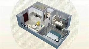 颐和大都会 2室1厅1卫 60平方米 精装