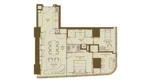 德基世贸中心 2室2卫 147平方米 精装