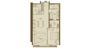 德基世贸中心 2室1卫 106平方米 精装