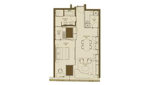 德基世贸中心 2室1卫 103平方米 精装