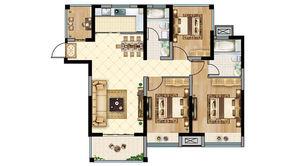 恒大悦澜湾 4室2厅2卫 110平方米 毛坯