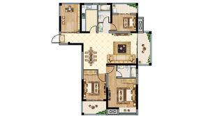 恒大悦澜湾 4室2厅2卫 123平方米 毛坯
