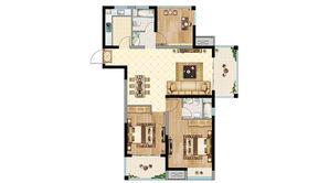 恒大悦澜湾 3室2厅2卫 104平方米 毛坯