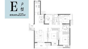 富力乌衣水镇 3室2厅2卫 125平方米 精装