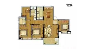 融创玉兰公馆 3室2厅2卫 129平方米 精装