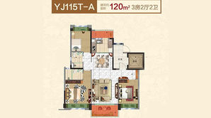 碧桂园欧洲城 3室2厅2卫 120平方米 精装