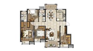 电建洺悦府 4室2厅2卫 130平方米 毛坯
