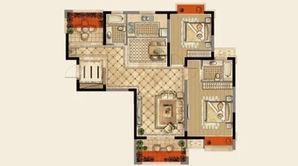 荣鼎幸福城 3室2厅2卫 118平方米 毛坯