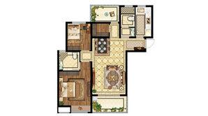 电建海赋尚城 2室2厅2卫 106平方米 毛坯