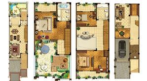 路易庄园 3室4厅3卫 309平方米 毛坯