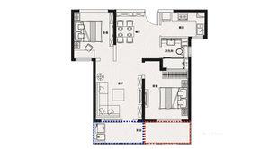 金象朗诗红树林 2室2厅1卫 89平方米 精装