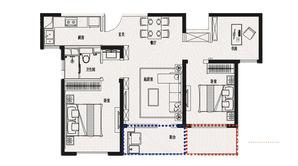 金象朗诗红树林 3室2厅1卫 102平方米 精装